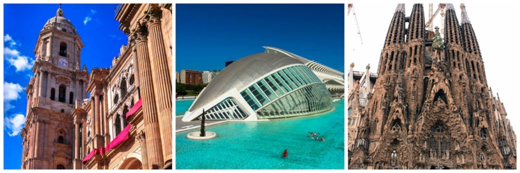 How much does it cost to travel in Spain and visit all the attractions? To enjoy the Spanish architecture you don´t need to spend a penny!