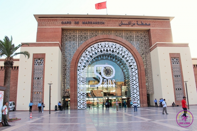 The Marrakesh railway station.