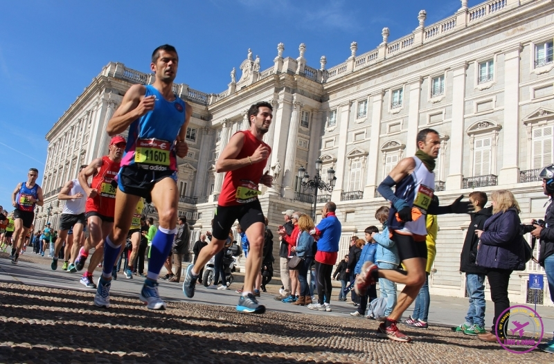 Athletes running in Madrid.