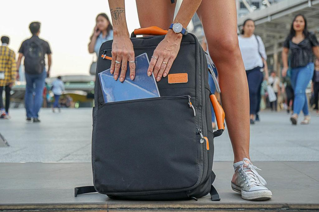 Standard Luggage carry-on backpack fits in most cabin luggage rules. It's the best carry-on backpack for international travel