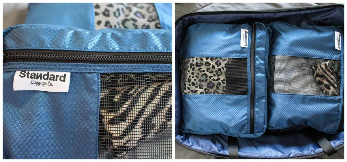 The best carry-on travel luggage needs to be paired with some smart packing cubes. Standard Luggage has it all.