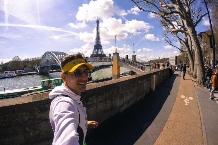 Paris Marathon review eiffel