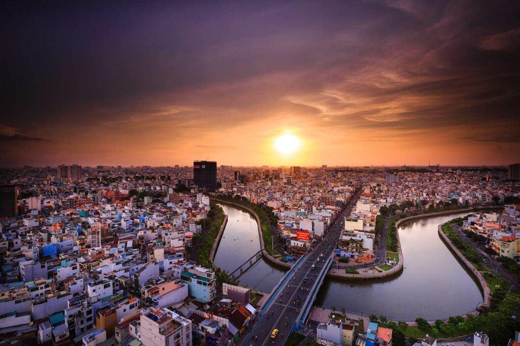 Ho Chi Minh sunset