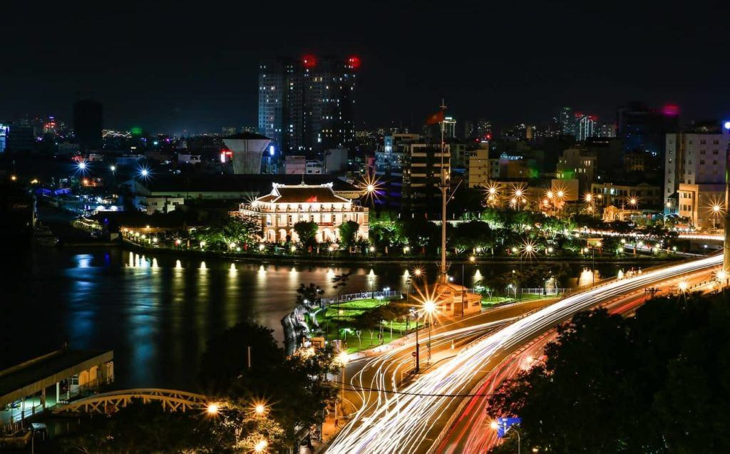 Saigon city at night