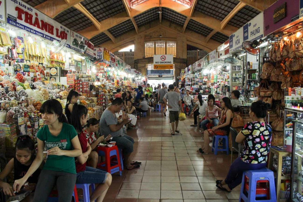 Among the top things to do in Saigon a visit to the city biggest market is on the to of the list.