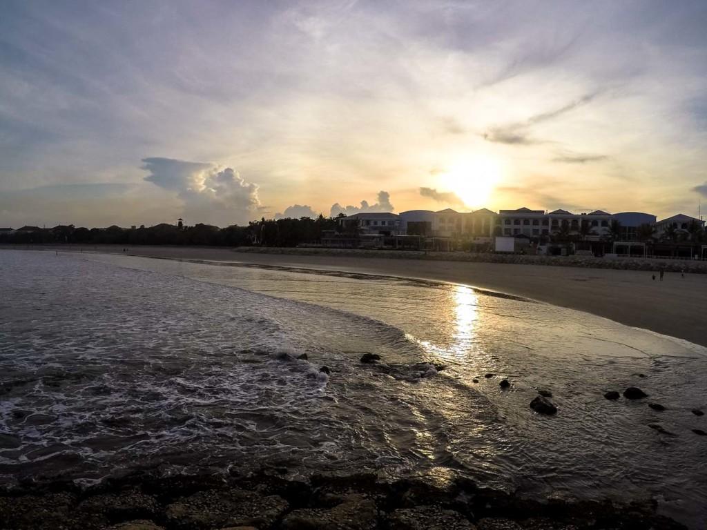 Sunrise over Kuta beach