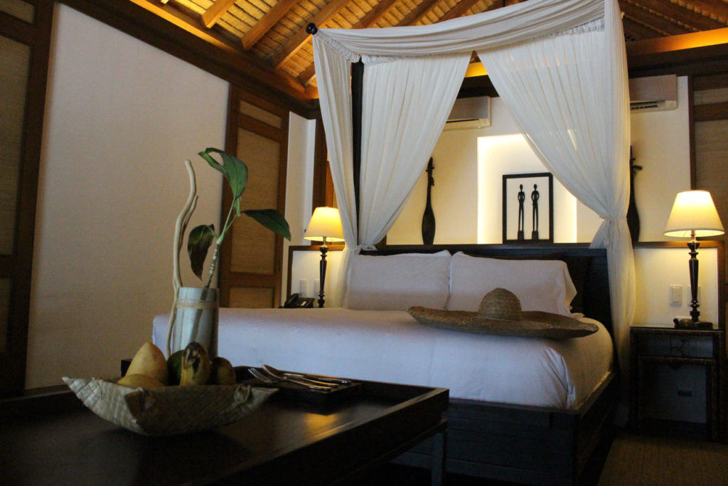 The well designed rooms at El Nido Resorts Pangulasian Island, the perfect place to relax and be surrounded by nature.