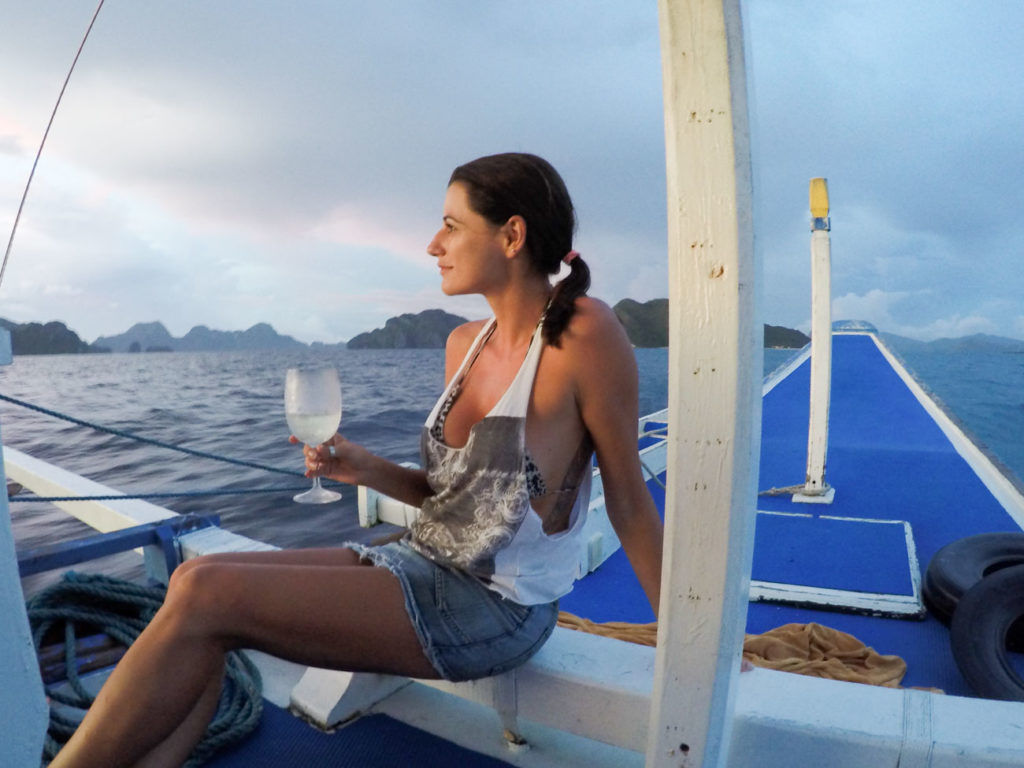 Sunset Cruise and Wine, that's what a call a luxurious experience in Pangulasian Island, El Nido - Philippines.
