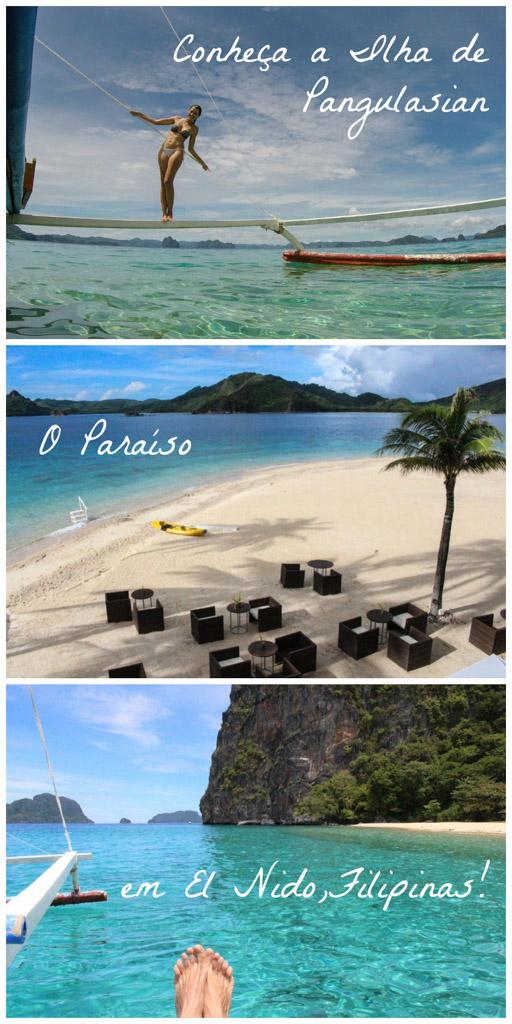 Tudo que você precisa saber para viajar pro Paraíso! Como chegar na Ilha de Pangulasina em El Nido, Filipinas. Atividades e o que fazer em Palawan, além de todas as dicas de viagem e o melhor resort para você se hospedar!
