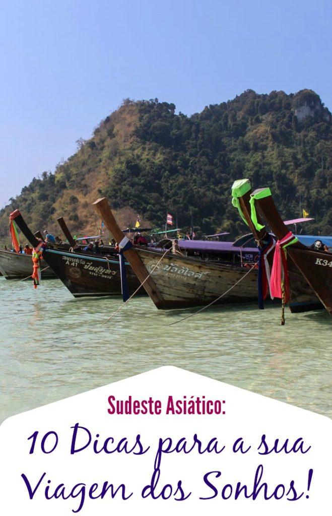 As melhores dicas de viagem para o Sudeste da Ásia! Como planejar suas férias, dicas sobre segurança, roupas, malas e transporte! Tudo que você precisa saber para organizar sua viagem dos sonhos na Ásia.