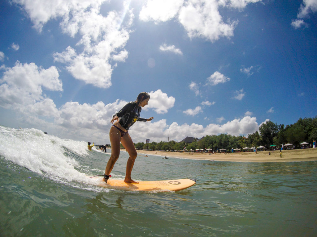 One of the best things to do in Bali is to surf! Go for it, even if you are a biginner, there are plenty of surf schools in Kuta Beach.
