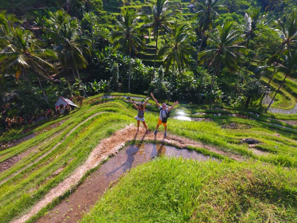 Explore de Tegalalang Rice Terraces in Ubud, one of the most touristic things to do in Bali, Indonesia.