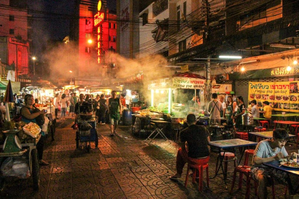 Don't be afraid to try street food in Thailand, it's safe. Visit Chinatown during your first time in Bangkok for serious food extravaganza.