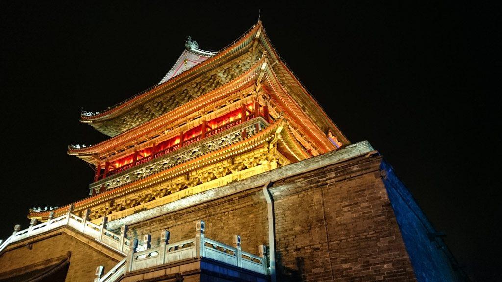 As torres na cidade antiga s'ao um das principais atrações de Xi'an.