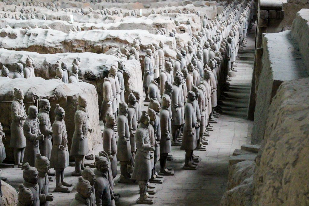 See the Terracota Warriors lined up on the mausoleum is one of the most impressive things do see in Xi'an, China.
