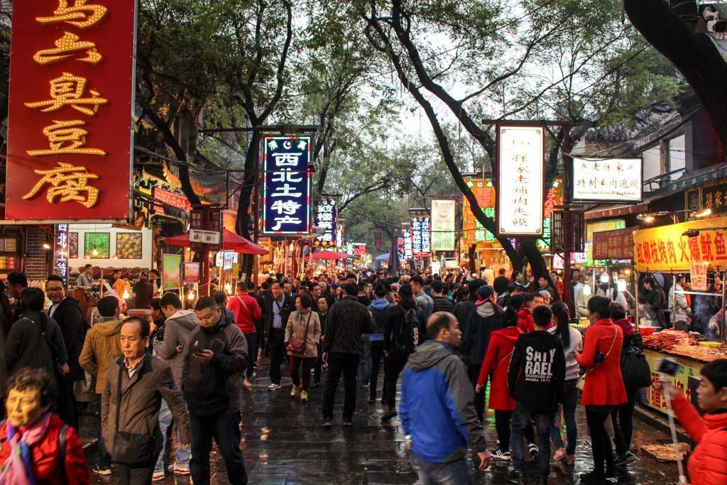 Comer Bem! Esse é umas coisas para fazer em Xi'an. O melhor lugar para provar comida de rua é na rua mulçumana.