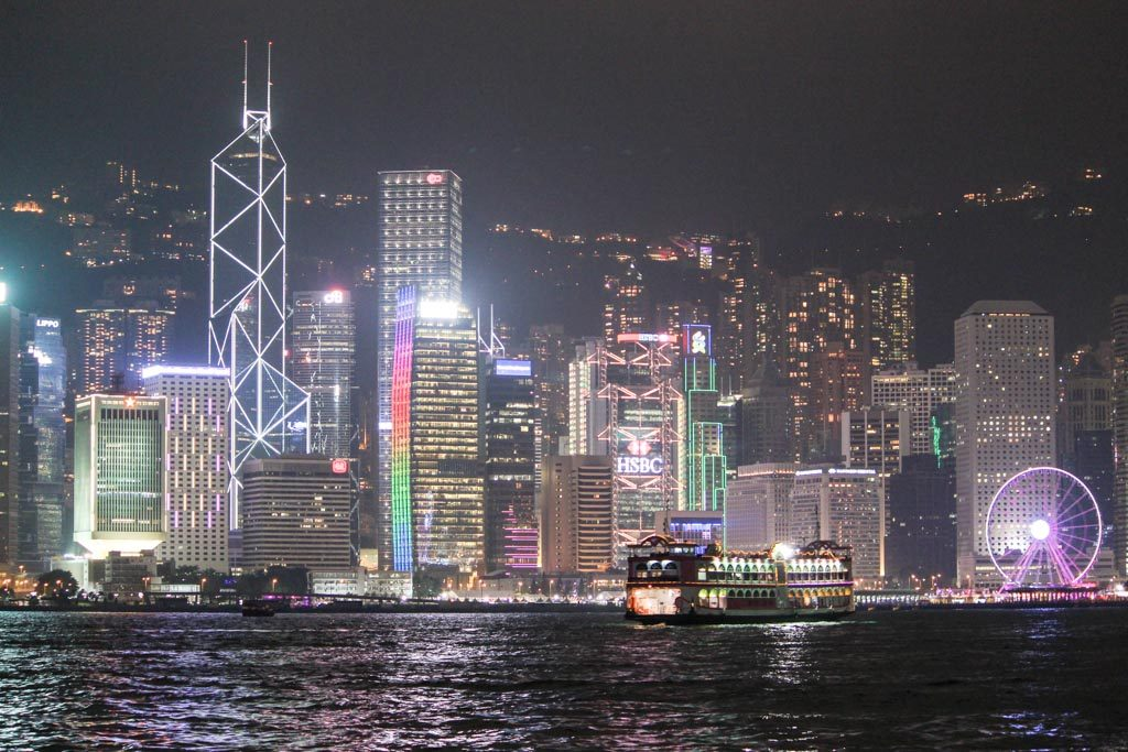 First night of your Hong Kong itinerary must be at the harbour to watch the Symphony of Lights.