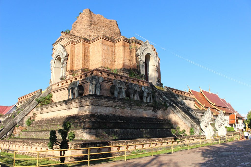 Wat Chedi Luang is one of the most important temples in Chiang Mai.