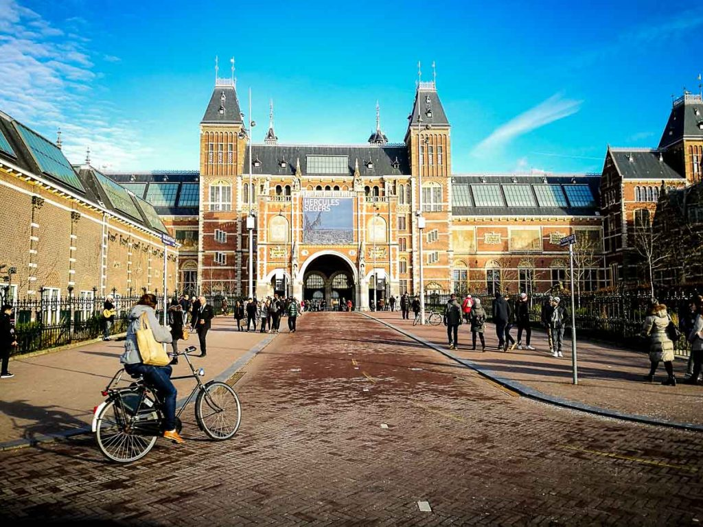 Visit the Rijksmuseum Museum is one of the top things to do in Amsterdam, specially in winter time.