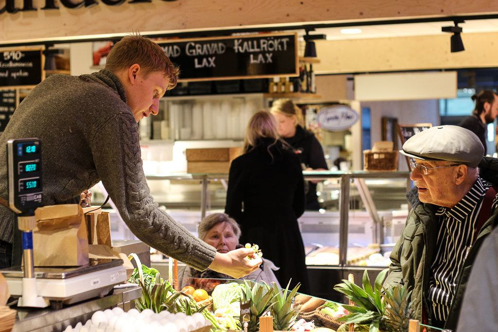 The Östermalm Saluhall food market is a must in Stockholm, a place to eat and learn about the local food.