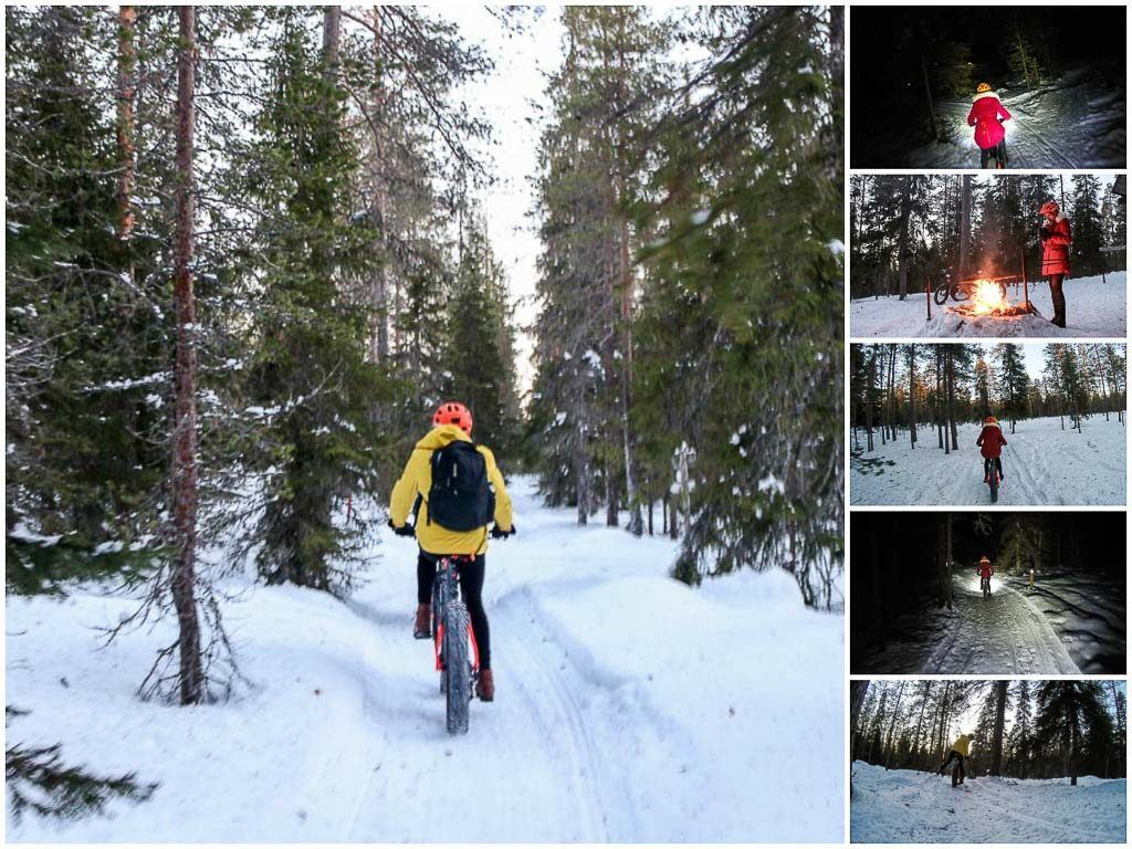 The bike adventure last for 3 hours. So much fun in Rovaniemi forest, hills and frozen river.