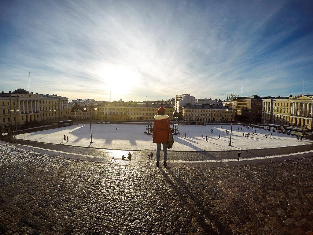 Nossa viagem de trem pela Escandinávia terminou em Helsinki na Finlândia. Um Eurail pass para os 4 países.