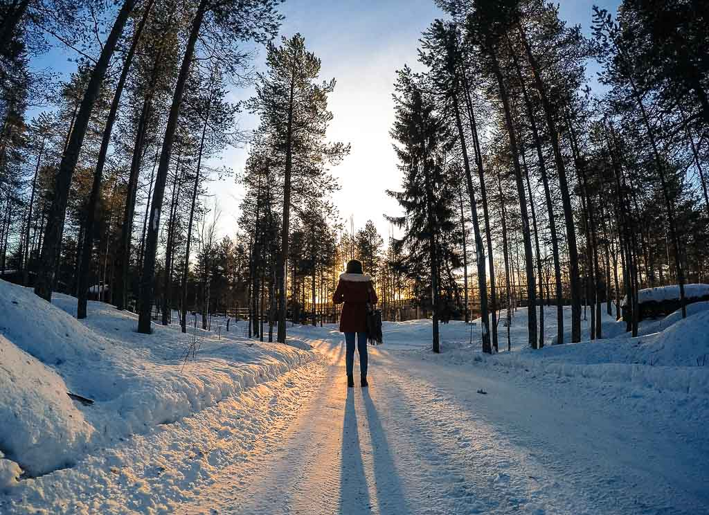 Things to do in Rovaniemi and th northern lights in Finland.