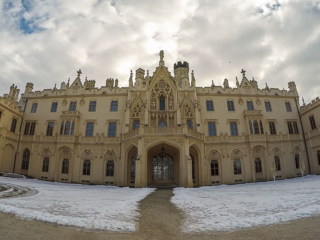 Our first recommendation of unique things to do outside Brno is to visit the Lednice Castle.