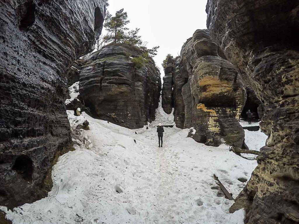Outra atrações do Parque Boêmia Suíça é o Labirinto de Rochas Tisá.