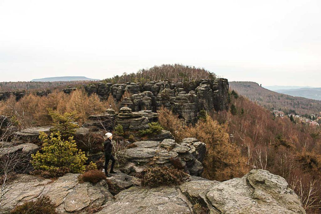 The sandstone formations are the main attraction in the Bohemian Switzerland Park, you can hike through the rock towers and climb to amazing viewpoints.