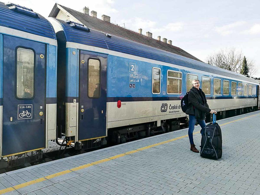It's easy to travel by train from Prague to Český Krumlov, but you prefer you can also go on a day trip from Prague by bus.