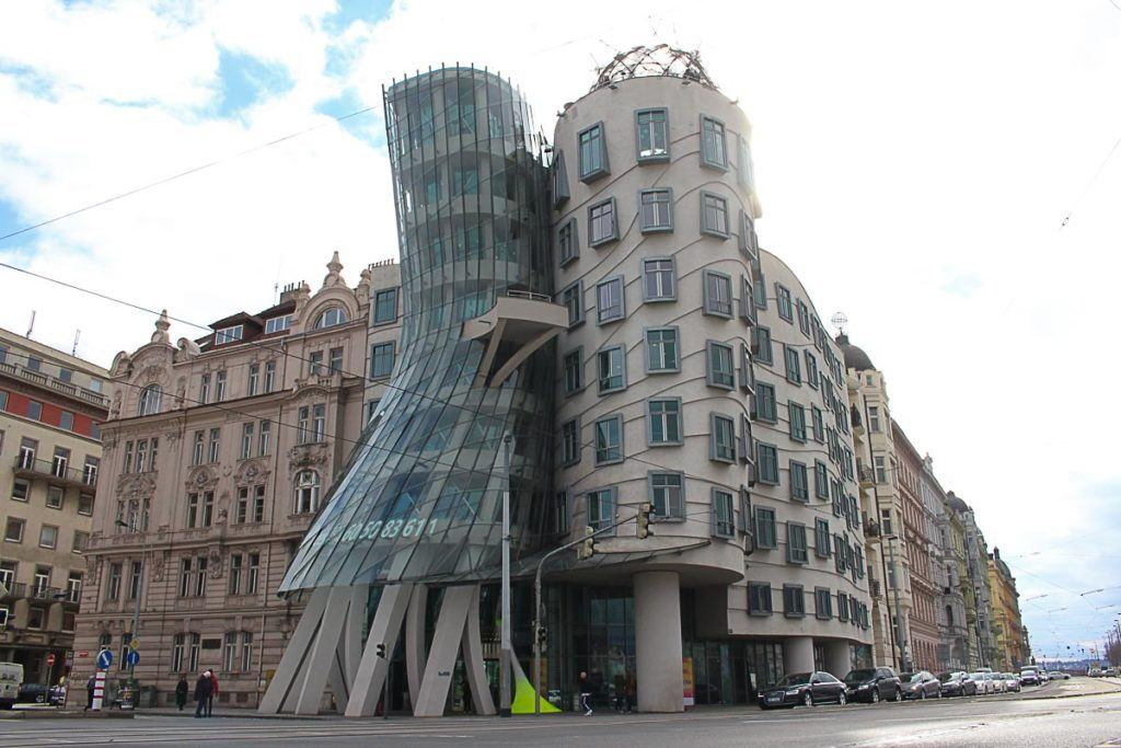 The Dancing house is one of the most visited places in Prague, Czech Republic.