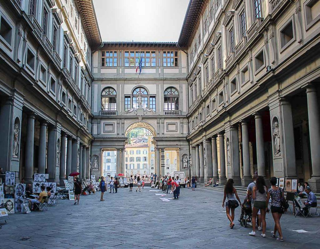 The gallery uffizi is one of the most famous museums in florence and italy you