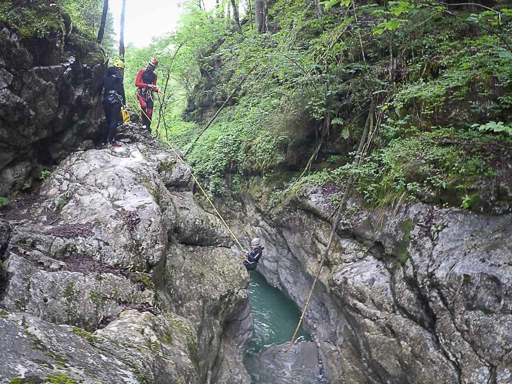 In Bregenzerwald was our first experience doing canyoning and we love it.