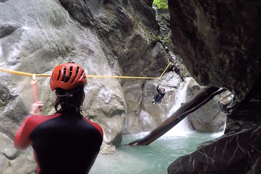 The canyoning is a truly way to enjoy the summer in Austria.