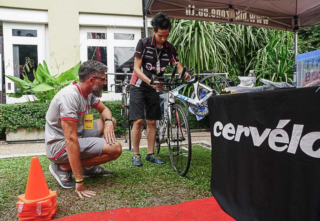 The Bike Service at Ironman Thailand was managed by Bikezone Thailand and was impeccable.
