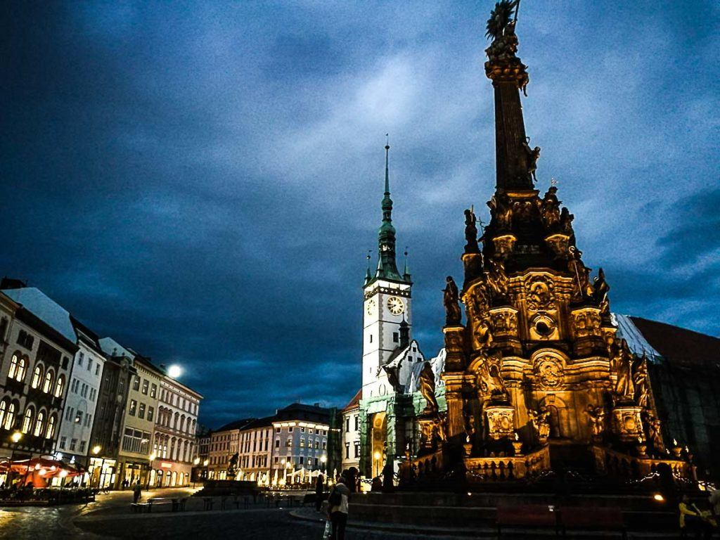The Holy Trinity Column is one of the top attractions in Olomouc, Czech Republic.