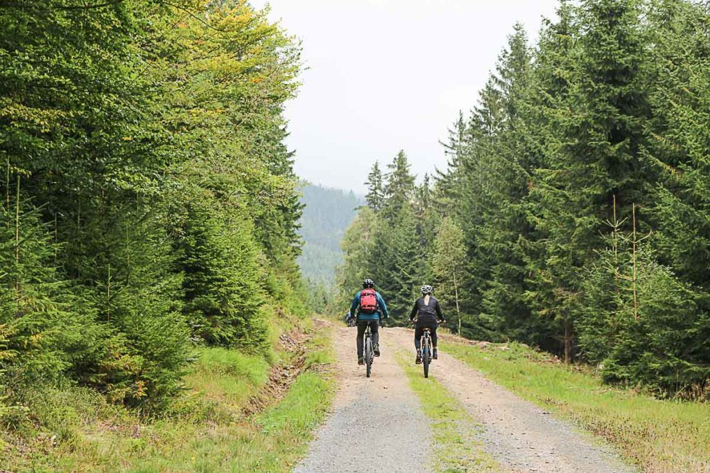 The electric mountain bike is a great way to explore the Jeseníky Mountains