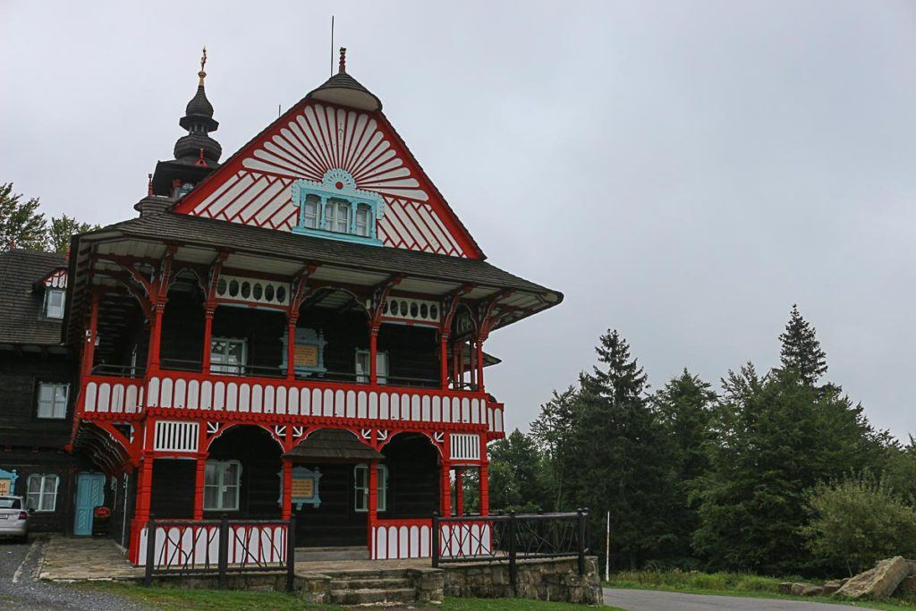 At the top of the The Beskdi Mountains you can find cute folk houses a great attraction to visit near Ostrava.