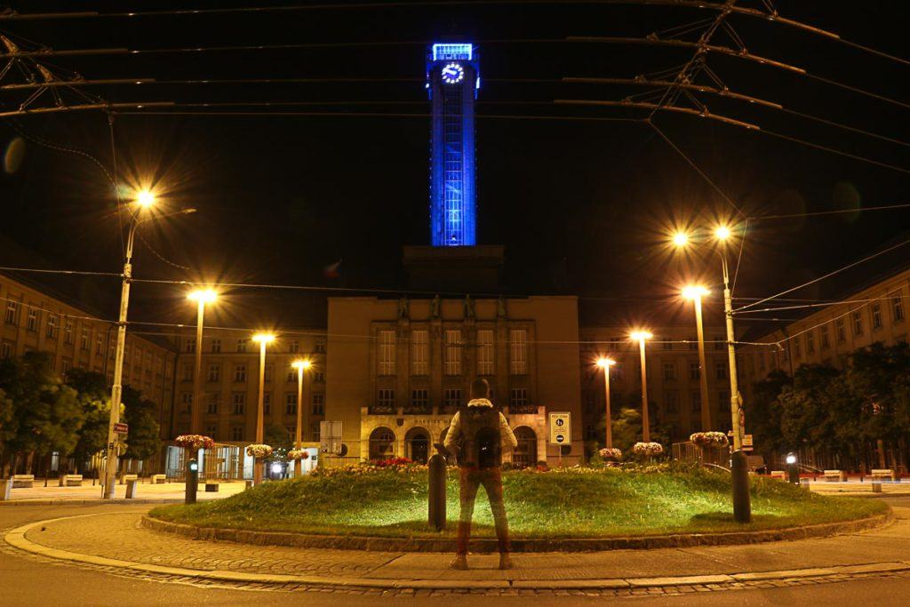 The impressive tower of the new Town Hall is one of the places to visit in Ostrava.