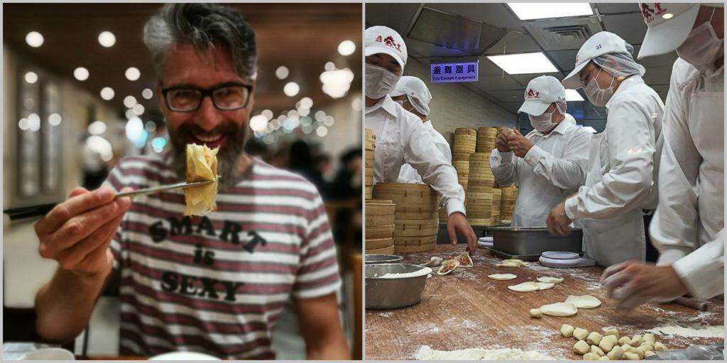 Para nós um dos melhores restaurantes de Taipei é o Din tai Fung.