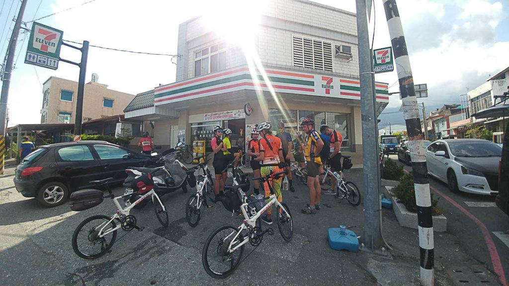 It is easy to find 7 Eleven convenience shops while cycling in Taiwan. The perfect place for a quick stop.