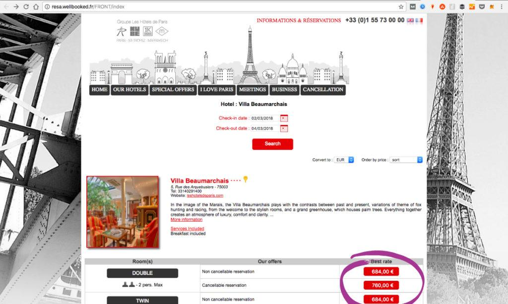 Sometimes direct booking is not the best option to find great discounts on romantic hotels in Paris, France