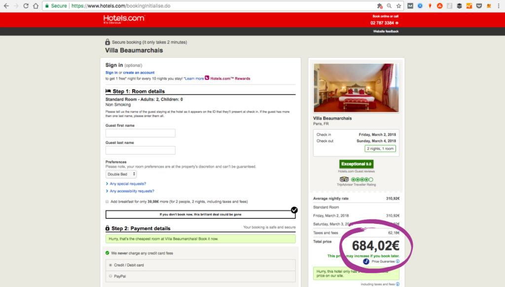 The top romantic Hotels in Paris on Hotels.com are also not the best option for budget travelers.