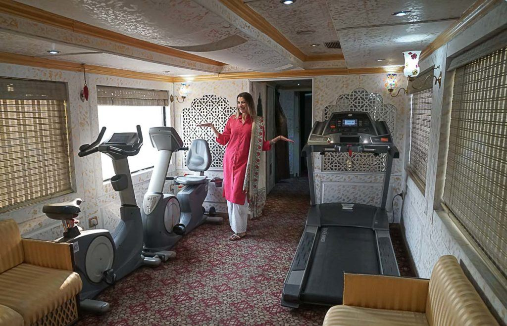 Surprise, surprise, there in a spa and a gym on Palace on Wheel, this is truly a luxury train trip in India.