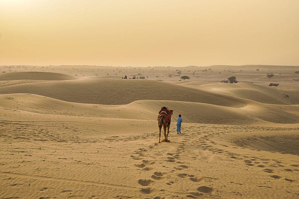 Because Palace on Wheels travels during night, we are able to do a lot in one week, even visit the desert near Jaisalmer.