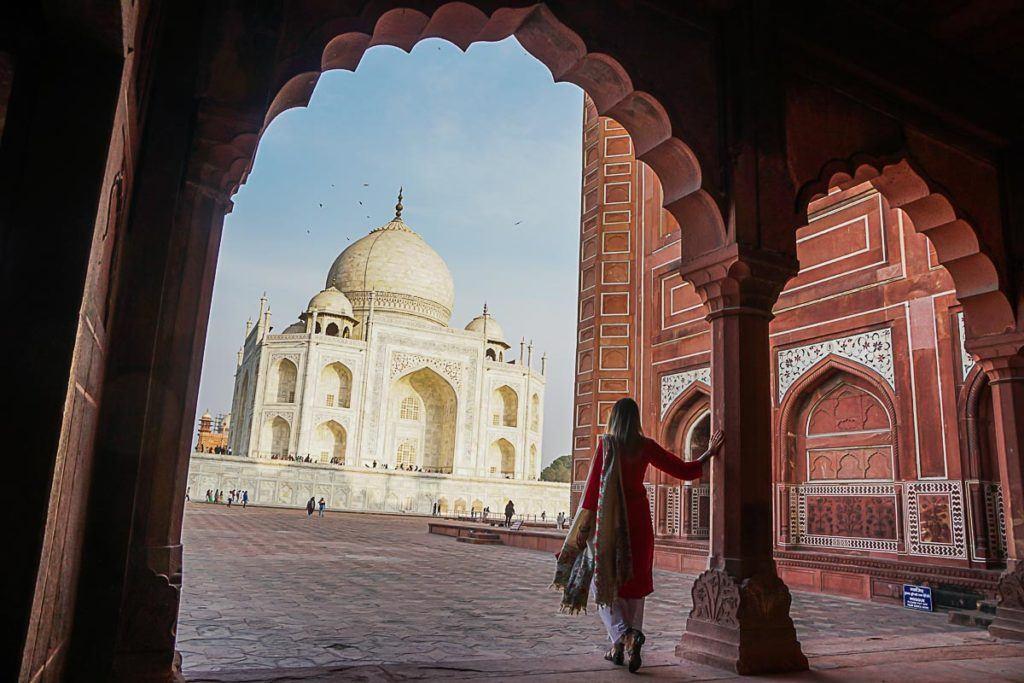 A visita ao Taj Mahal aconteceu no último dia da nossa viagem no trem Palace on Wheels, e foi a realização de uma sonho.