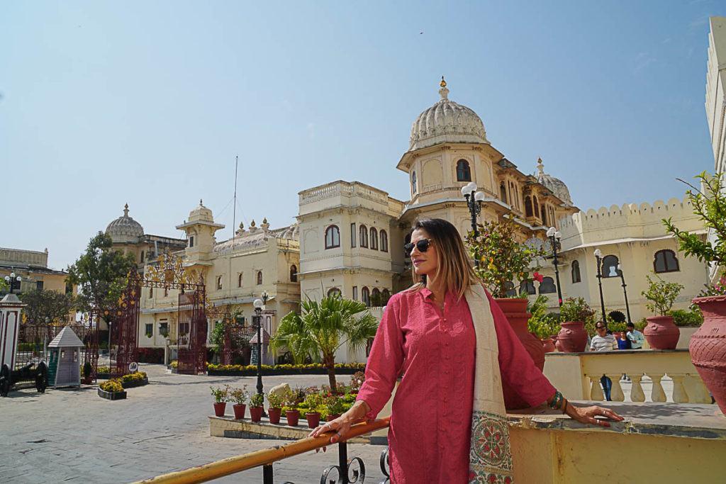 Outra atrações importante é o Palácio da Cidade em Udaipur, ainda bem bem que o passeio faz parte do roteiro do Palace on Wheels.