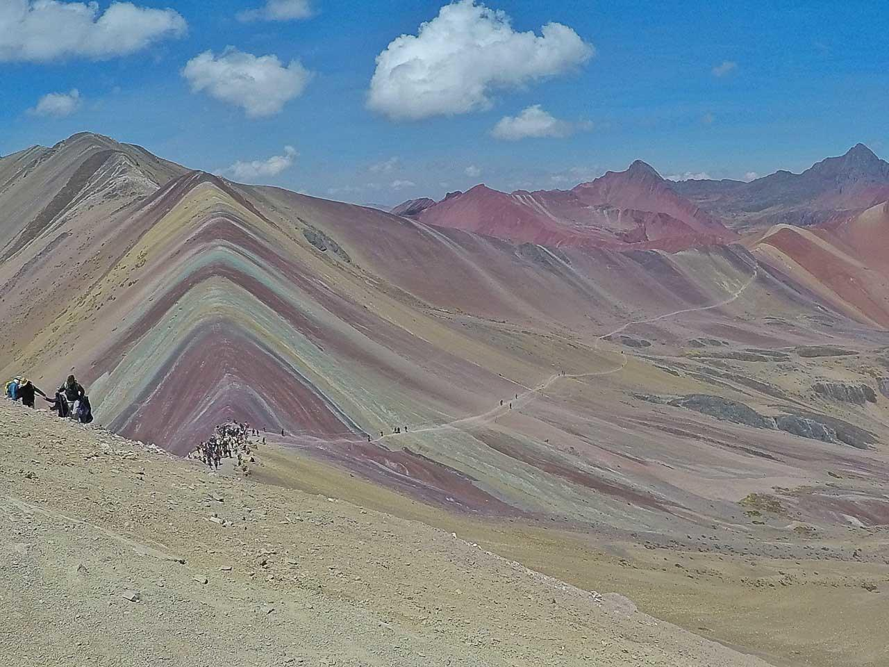 The Rainbow Mountain is a one day trip from Cusco and it worth the time and the energy to get there. This is one of the top places to visit in Cusco, Peru.