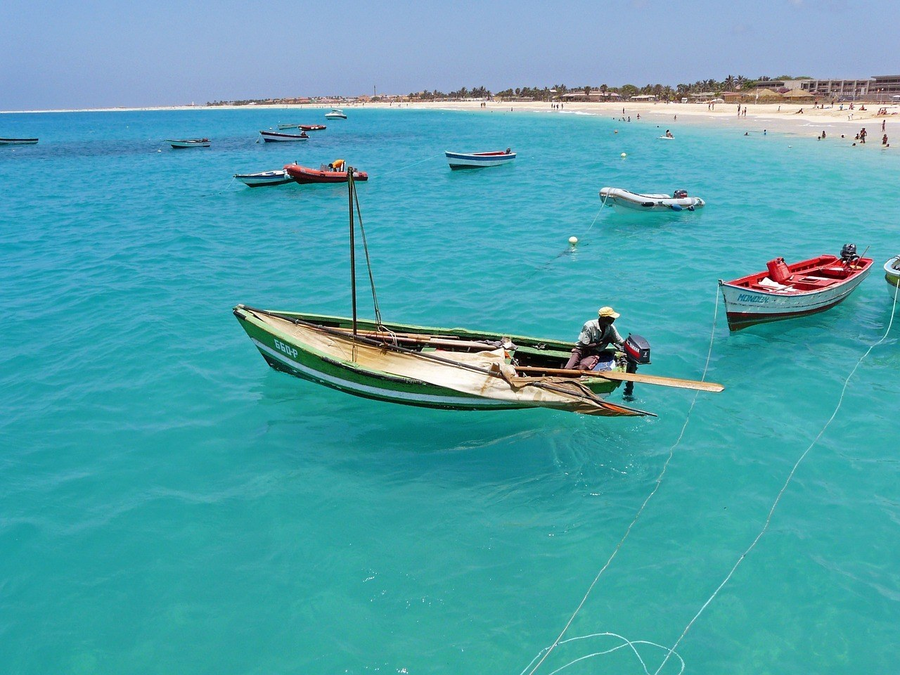 Visiting the pristine beaches are some of the best things to do in Santiago Cape Verde.